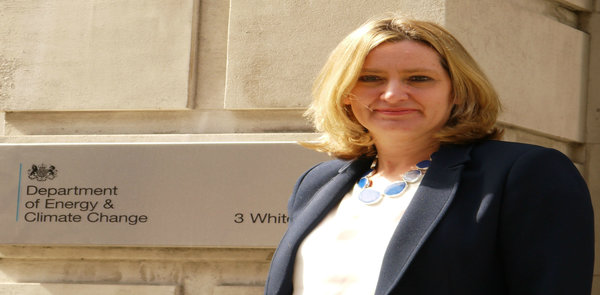 Amber Rudd supports smart meters UK