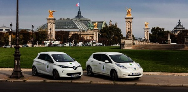 COP21 is the first the United Nations utilises a zero-emission electric vehicle fleet for 100% of its passenger-car shuttle at a climate summit. Pic credit: Renault-Nissan Alliance