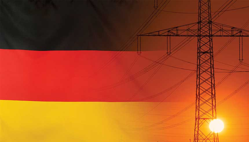 Germany flag and pylon