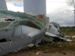 GE wind turbine collapses